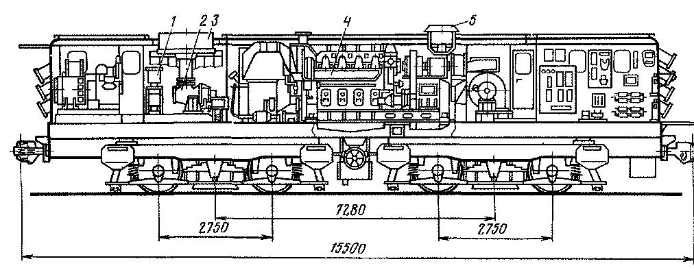 9— блоки тормозных резисторов