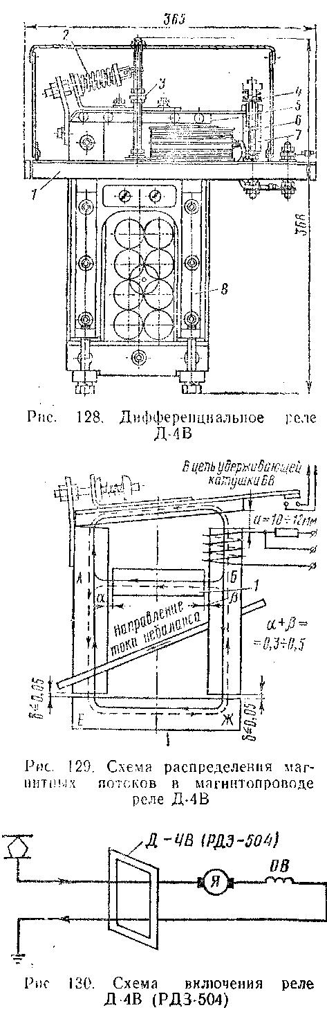 Реле Д-4В силовой цепи тяговых