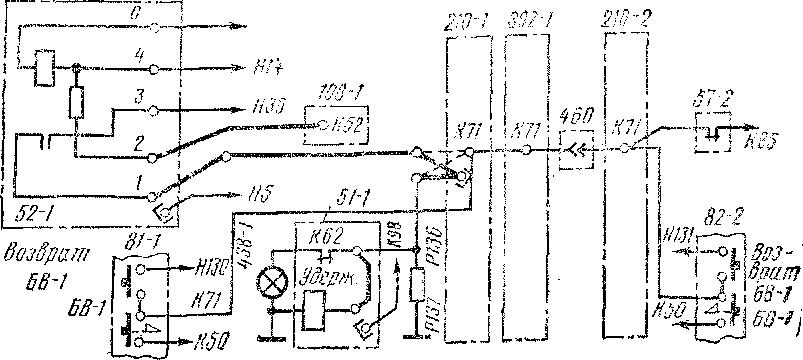 Схема пересоединений в цепи