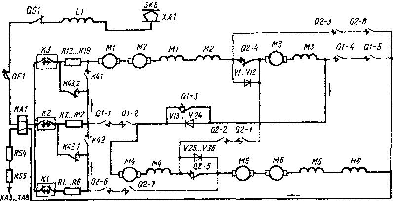 К28, подсоединяющие цепь
