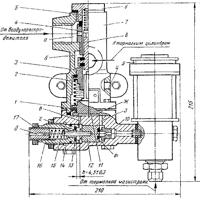 пневматической схеме У19.
