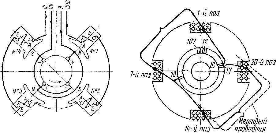 Схема соединения катушек