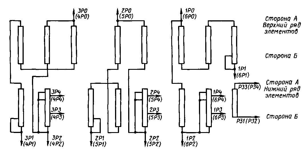 Схема соединений резисторов