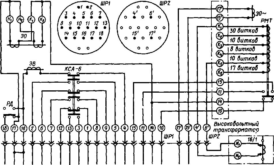 Схема штепсельных разъемов ШР1