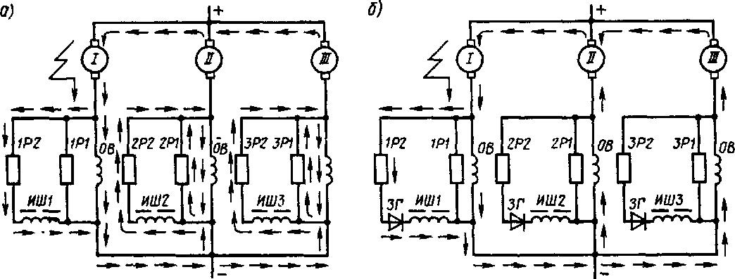 Прохождение тока в цепи