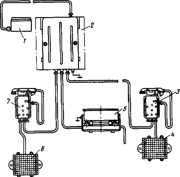 Схема установки радиостанции