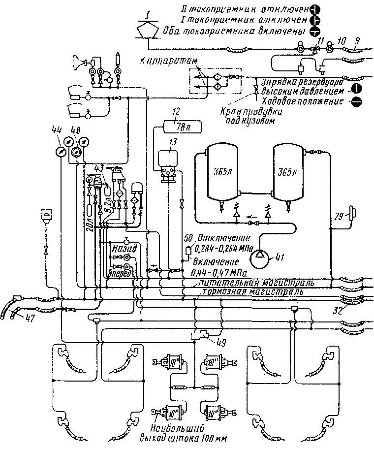 схема электровоза: