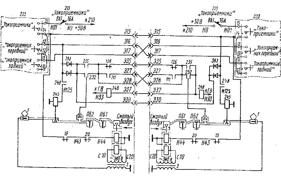 Схема блоков автоматов