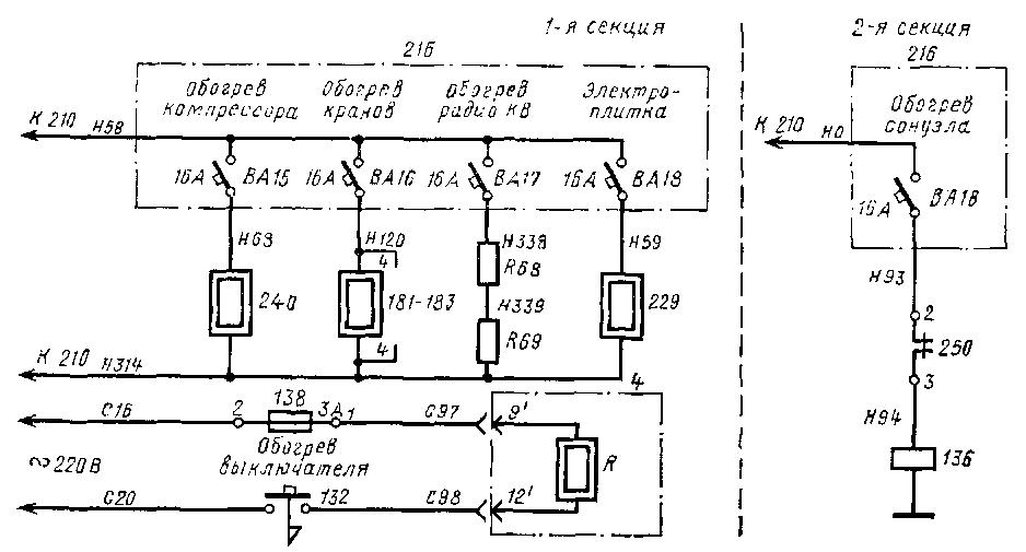 Схема цепей управления